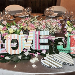 decoración masia de bodas